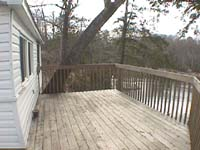 Bayview cottage deck  at Eels Lake Cottages and Marina