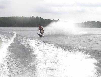 Waterskiing at Eels Lake Cottages and Marina
