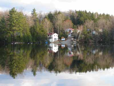 View of Eels Lake Cottages and Marina