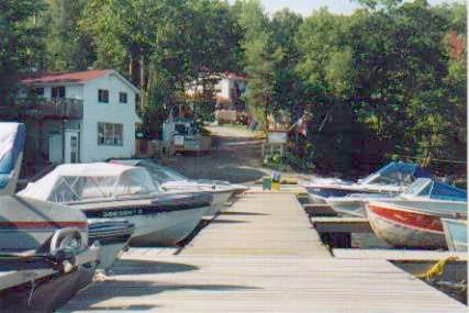 view of docks at Eels Lake Cottages and Marina