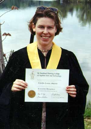 Carolyn graduates in Ecotourism Management program